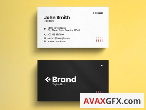 Black And White Minimalist Business Card Layout 263042971
