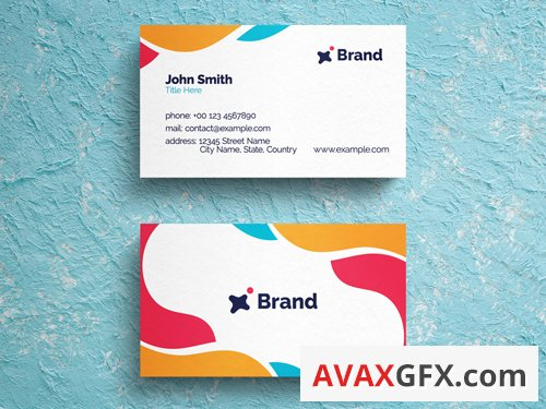 Colorful Abstract Business Card Layout  263043666
