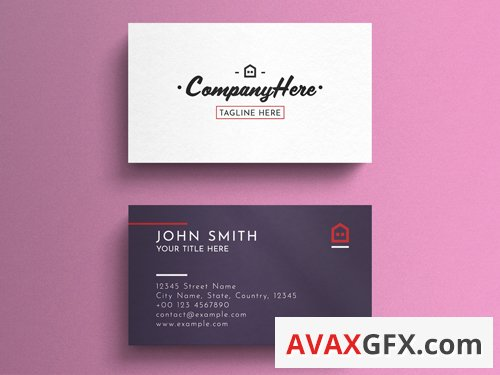 White And Purple Business Card Layout 263045039