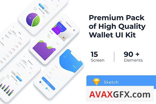 Wallet UI KIT for Photoshop, Sketch, Adobe XD