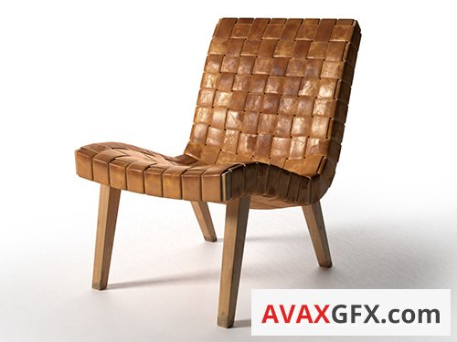 Cgtrader - 654w Lounge Chair 3D model