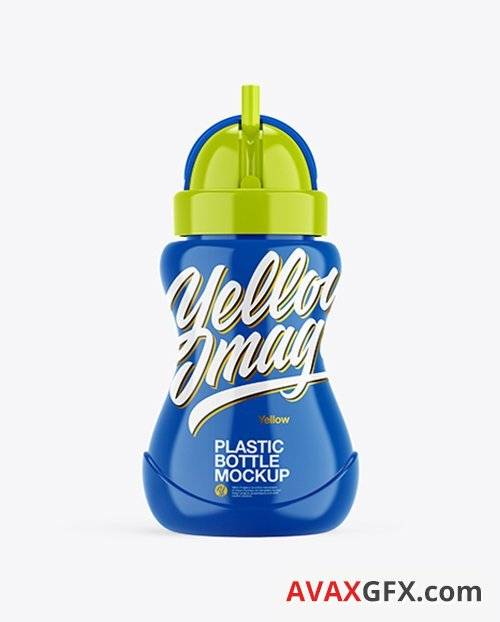 Glossy Plastic Bottle Mockup 38765 Layered TIF