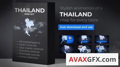 Videohive - Thailand Animated Map - Kingdom of Thailand Map Kit 24351874