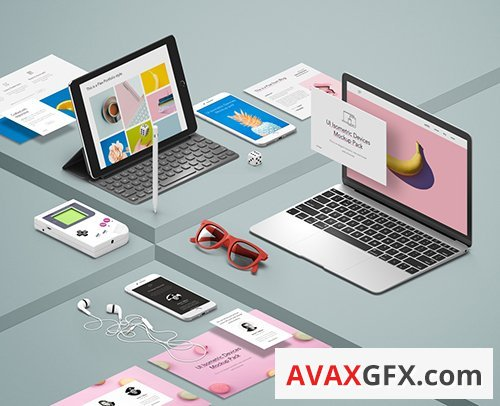 UI Isometric Devices Pack Vol3 PSD