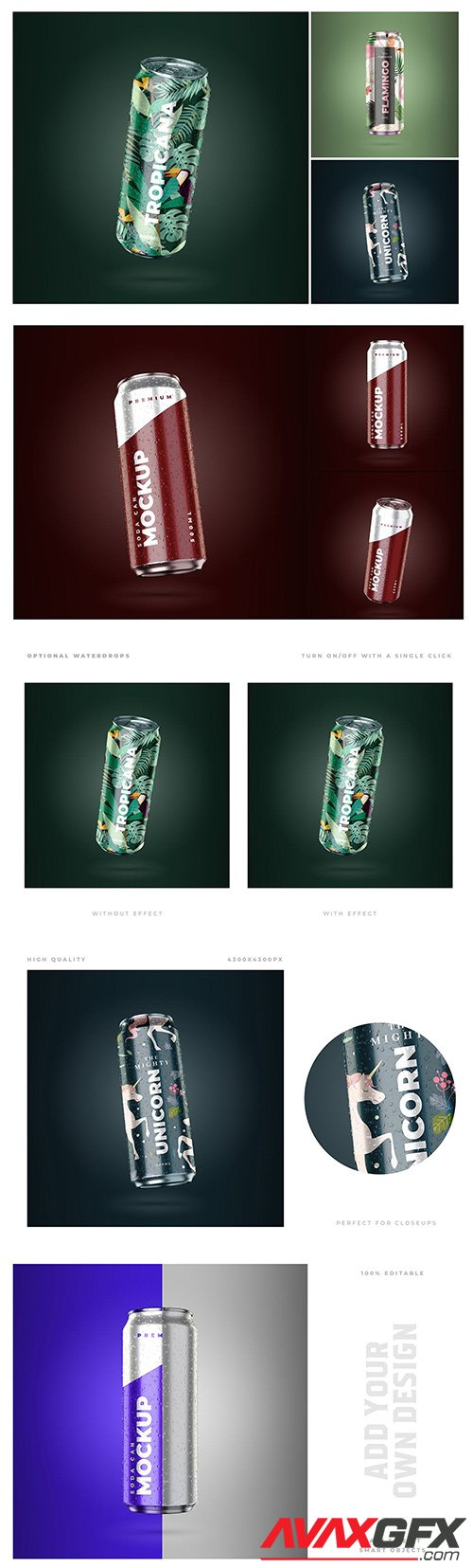Soda & Beer Can Mockups
