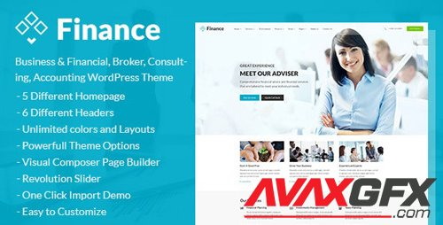 ThemeForest - Finance v1.4.3 - Business & Financial, Broker, Consulting, Accounting WordPress Theme - 17186694
