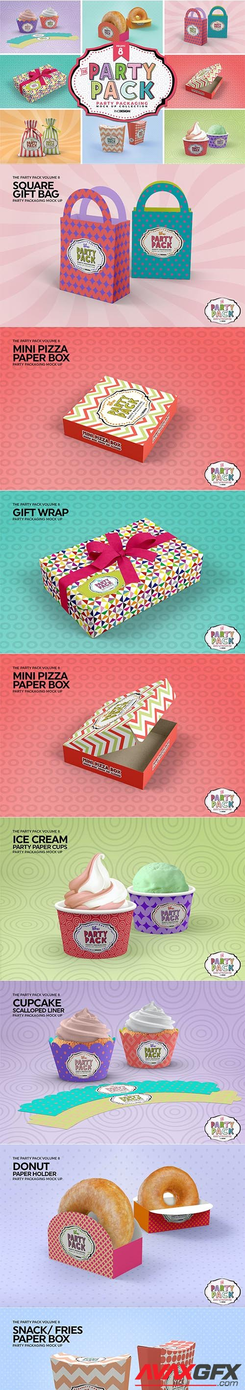 Party Packaging Mockups Vol.8