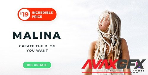 ThemeForest - Malina v1.9.3 - Personal WordPress Blog Theme - 23030474