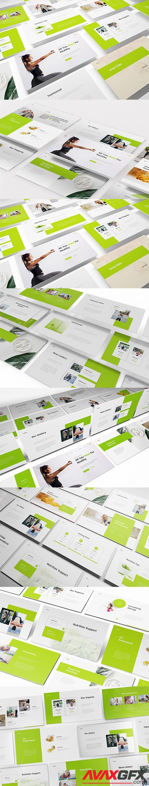 Supplements PowerPoint, Keynote, Google Slides Template