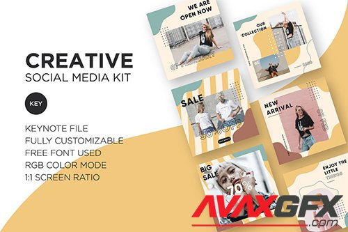 Creative Social Media Kit - Keynote