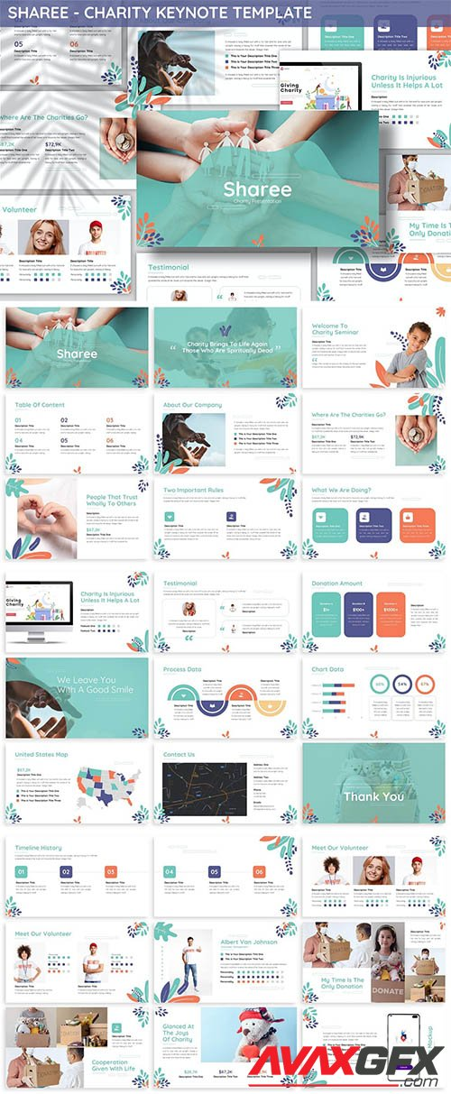 Sharee - Charity Keynote Template