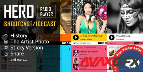 CodeCanyon - Hero - Shoutcast and Icecast Radio Player for WPBakery Page Builder v2.3 - 19435685