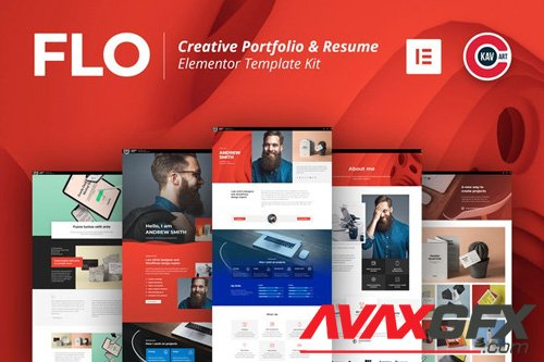 ThemeForest - FLO v1.0 - Creative Portfolio & Resume Template Kit - 26423130