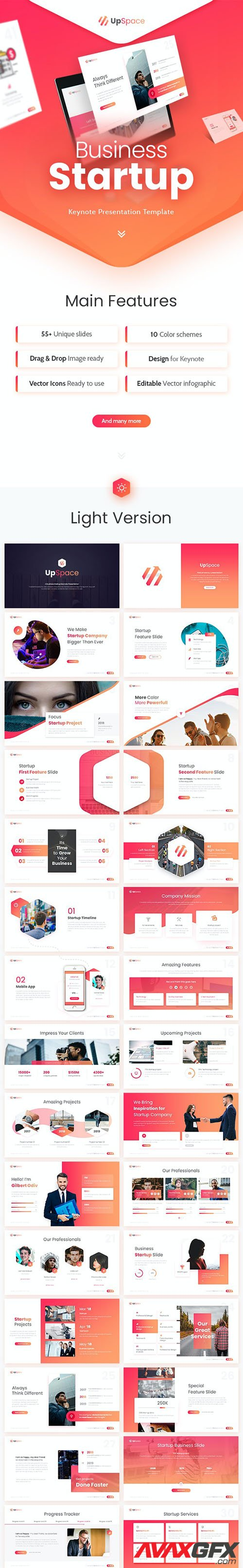 Upspace Business Startup Keynote Presentation Template