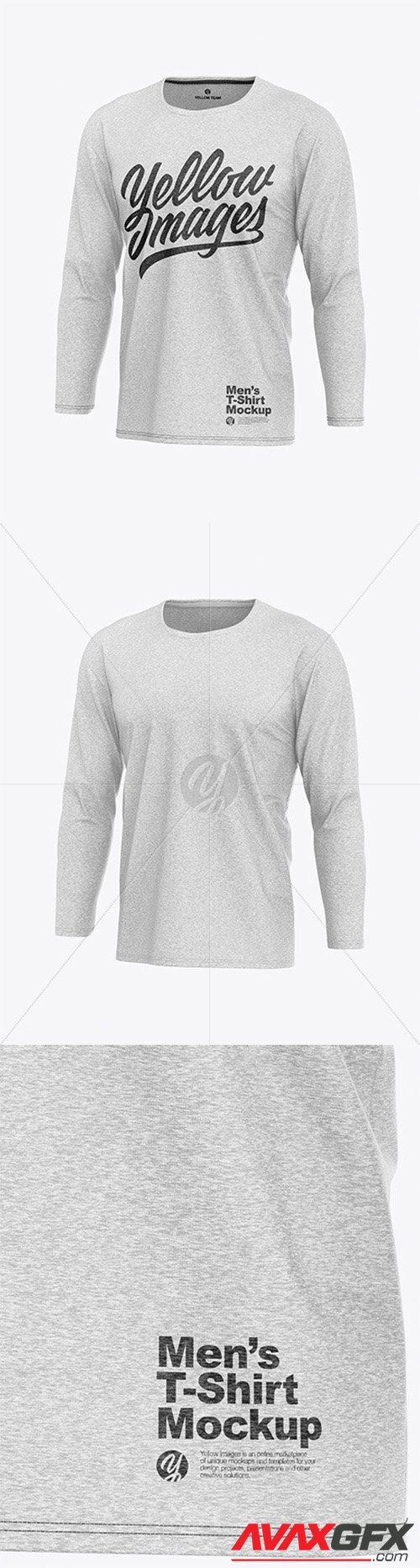 Download Melange Men S Long Sleeve T Shirt Mockup 55459 Avaxgfx All Downloads That You Need In One Place Graphic From Nitroflare Rapidgator PSD Mockup Templates