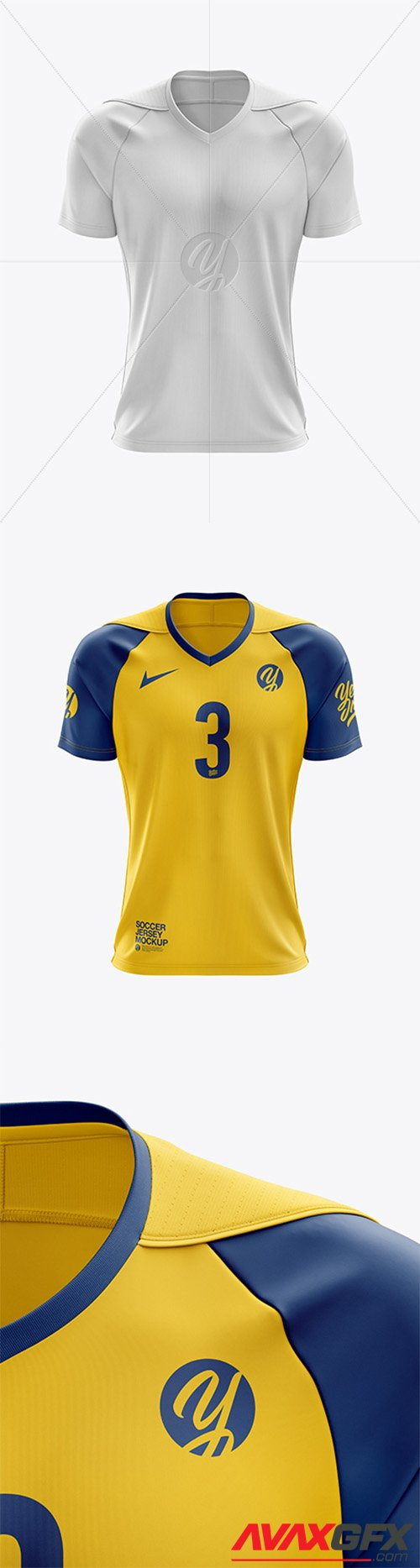 Men's Soccer Jersey mockup (Front View) 39871