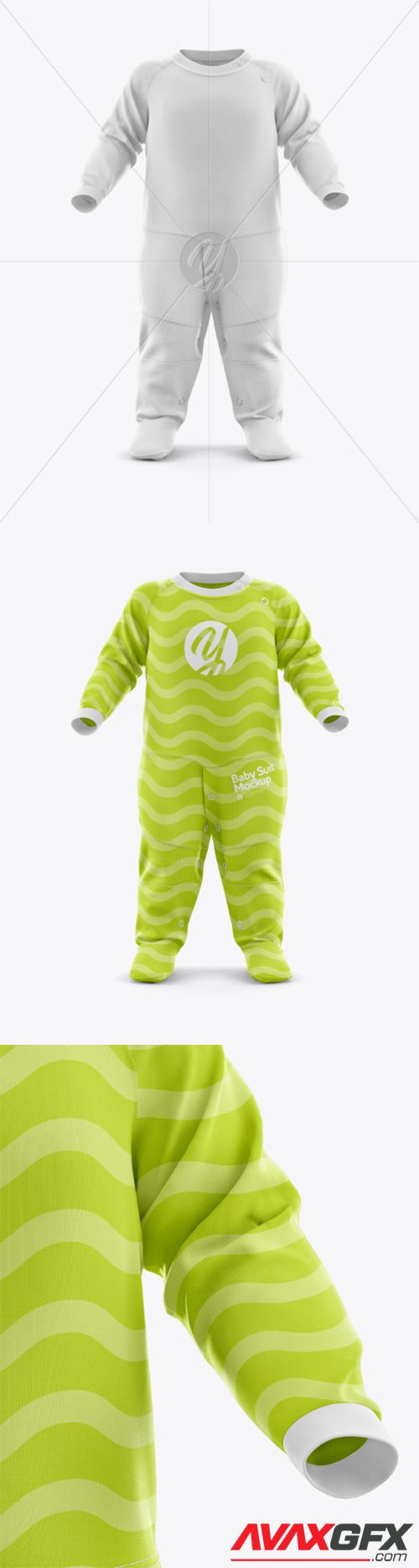 Baby Suit Mockup - Front View 44243