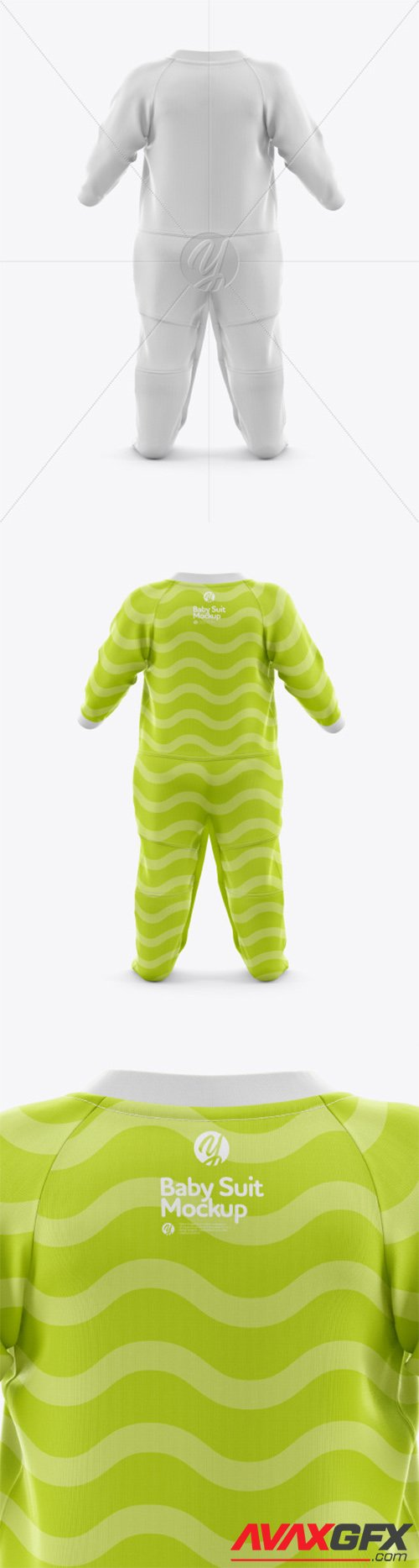 Baby Suit Mockup - Back View 44248