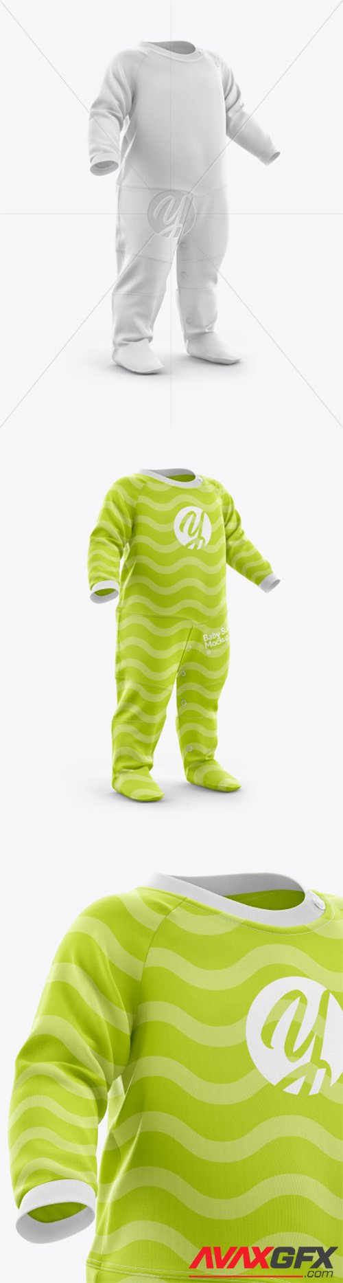 Baby Suit Mockup - Half Side View 44256