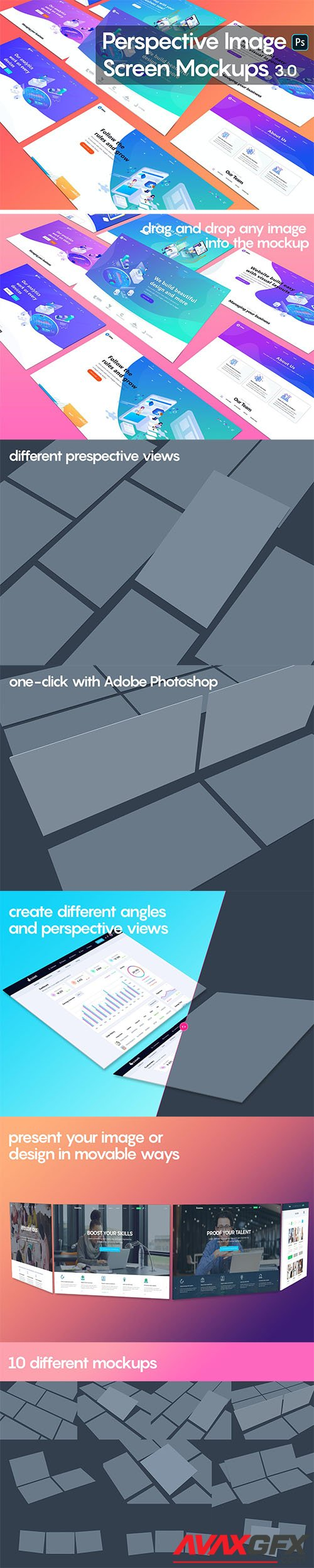 Perspective Image Screen Mockups 3.0