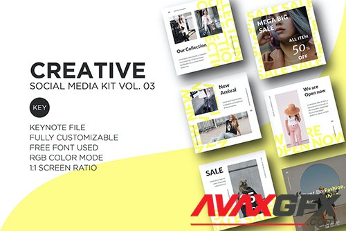 Creative Social Media Kit vol. 03 - Keynote
