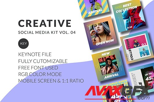 Creative Social Media Kit Vol. 04 - Keynote