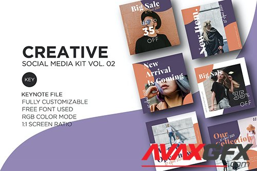 Creative Social Media Kit vol. 02 - Keynote