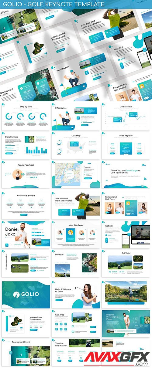 Golio - Golf Keynote Template