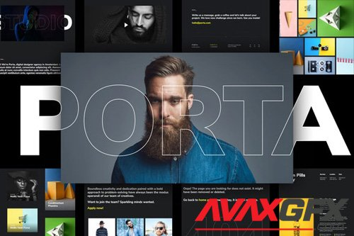 ThemeForest - Porta v1.0 - Creative Portfolio Template Kit - 26356481