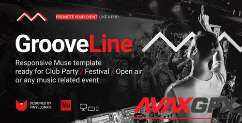 ThemeForest - GrooveLine v1.0 - Music Event / Festival / DJ Party Responsive Muse Template - 21482971