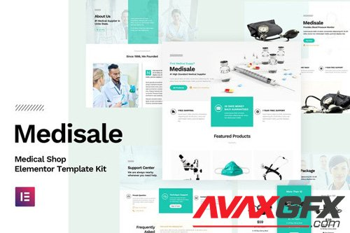 ThemeForest - Medisale v1.0 - Medical Shop Elementor Template Kit - 25904680
