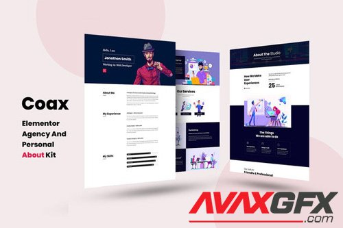 ThemeForest - Coax v1.0 - Agency And Personal About Us Elementor Template Kit - 25900196