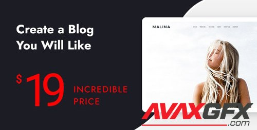 ThemeForest - Malina v1.9.45 - Personal WordPress Blog Theme - 23030474