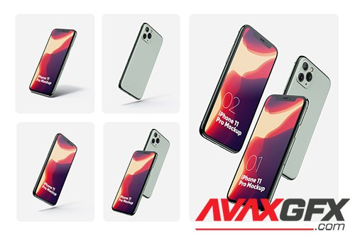 iPhone 11 Pro Set Mockups