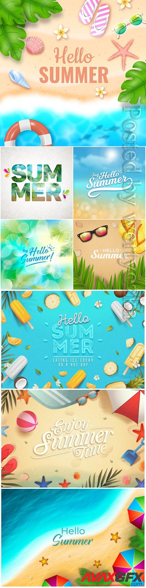 Summer vector collection illustration