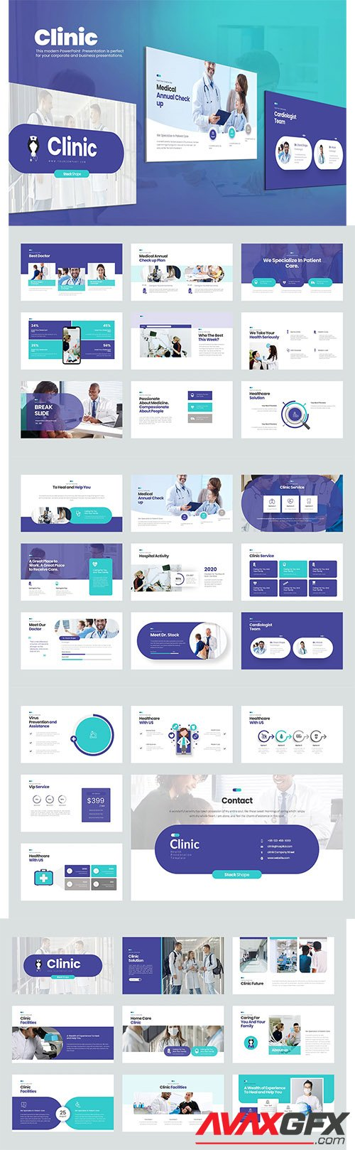 Clinic PowerPoint, Keynote, Google Slides Presentations