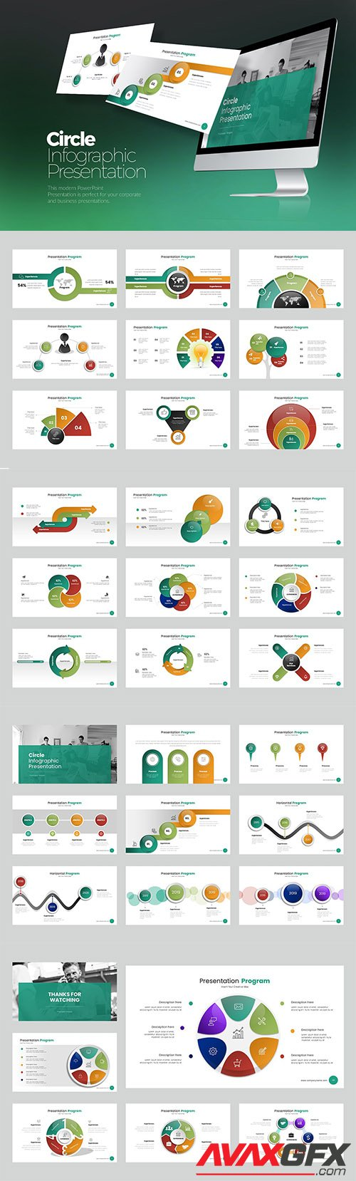 Circle Infographic PowerPoint, Keynote, Google Slides