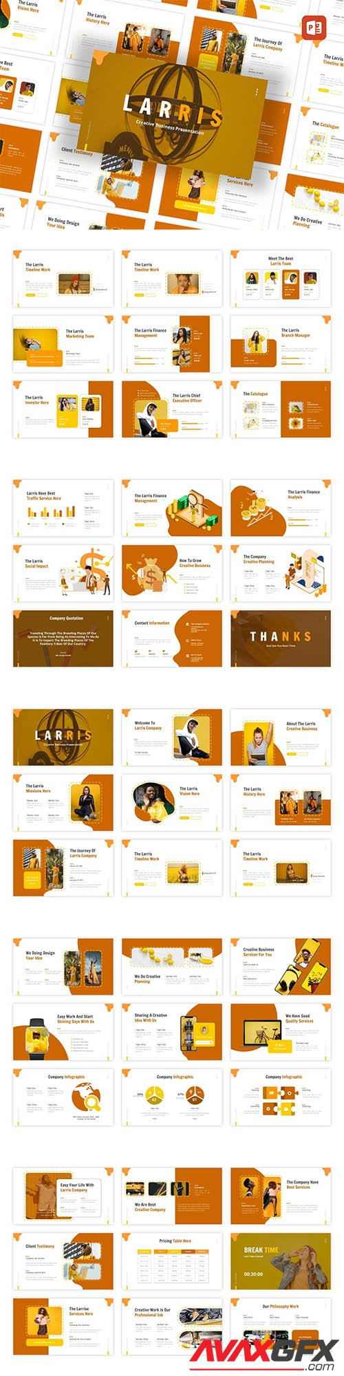 Larris - Creative Business PowerPoint, Keynote, Google Slides Templates
