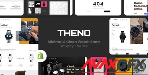 ThemeForest - THENO v1.0.0 - Minimal & Clean Watch Store Shopify Theme - 23237714