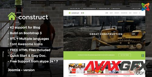 ThemeForest - Construct v3.0 - Construction Joomla Template - 13900071