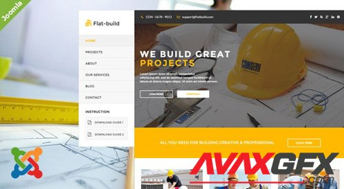 ThemeForest - Flatbuild v2.0 - Construction Joomla Template (Update: 27 March 19) - 12095206