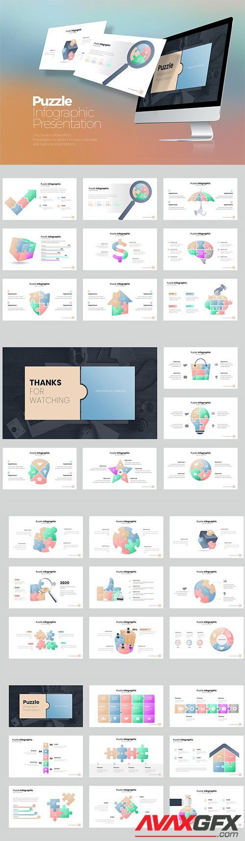 Puzzle Infographic PowerPoint, Keynote, Google Slides