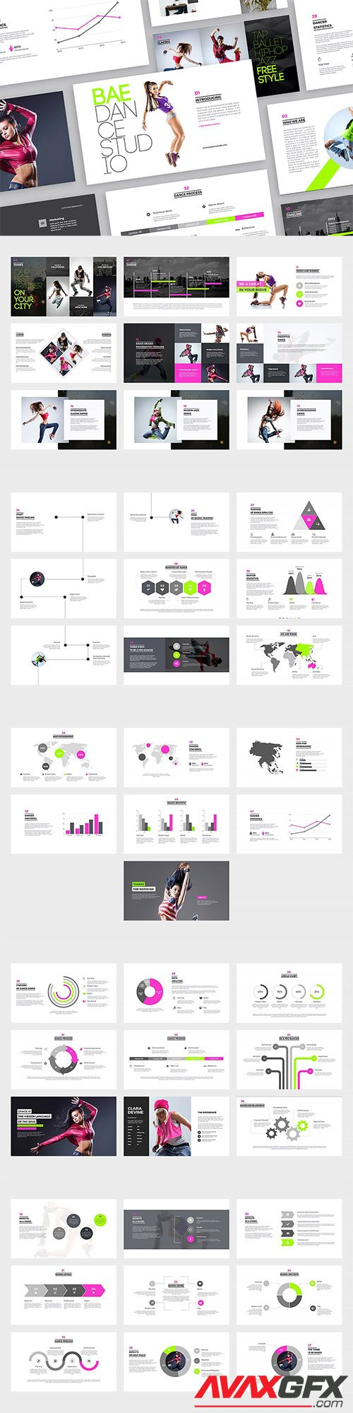 Bae Dance PowerPoint and Keynote Templates