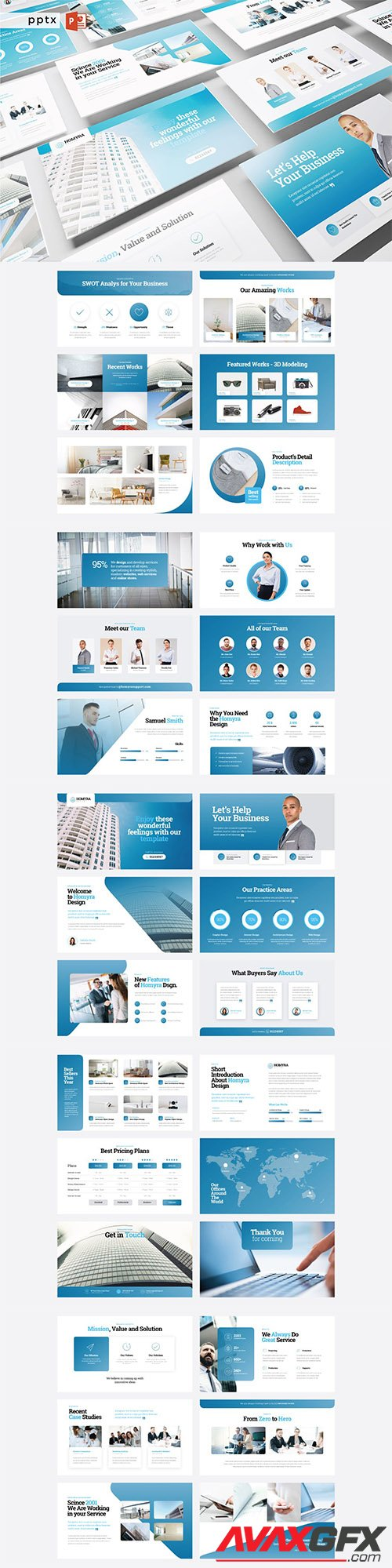 HOMYRA - Business PowerPoint, Keynote, Google Slides Templates