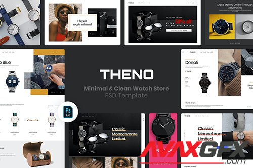 THENO | Minimal & Clean Watch Store PSD Template