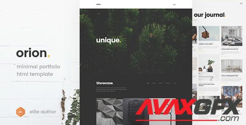 ThemeForest - Orion v1.0 - Minimal Portfolio HTML5 Template - 19389954