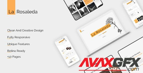 ThemeForest - La Rosaleda v1.0 - Creative HTML Template - 25421867