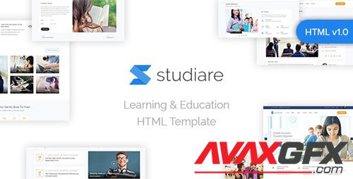 ThemeForest - Studiare v1.0 - Education HTML5 Template for Univeristy & Online Courses - 25181046