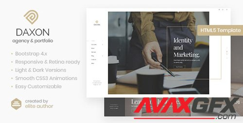ThemeForest - Daxon v1.0 - Agency & Portfolio HTML5 Template - 23257605