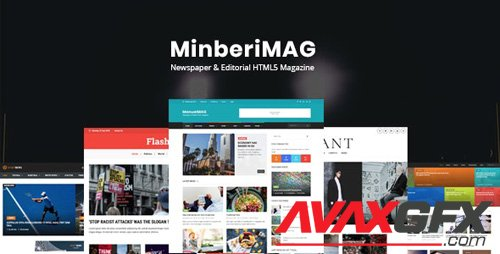 ThemeForest - MinberiMag v1.0 - Newspaper & Editorial HTML5 Magazine (Update: 17 March 18) - 21225930
